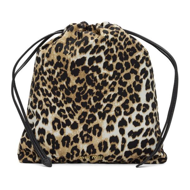 Miu Miu Brown Leopard Pouch