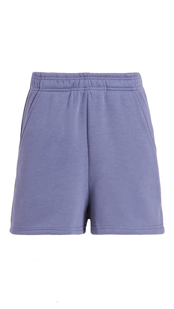 re:named re: named Terry Fleece Elastic Waist Shorts in blue