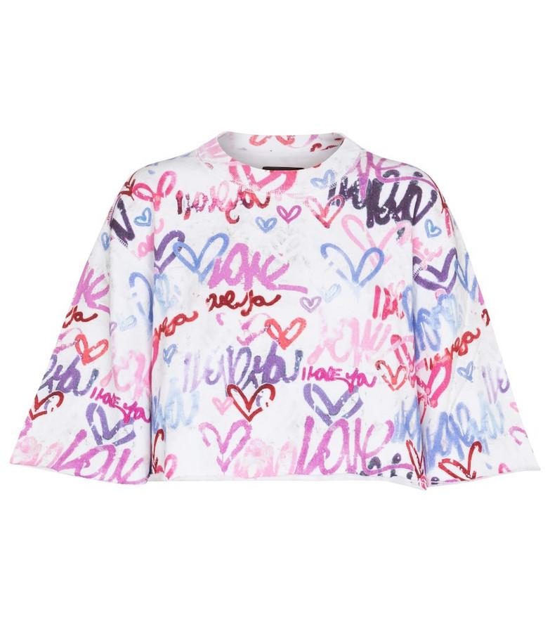 Isabel Marant Minazio cotton-blend cropped sweatshirt