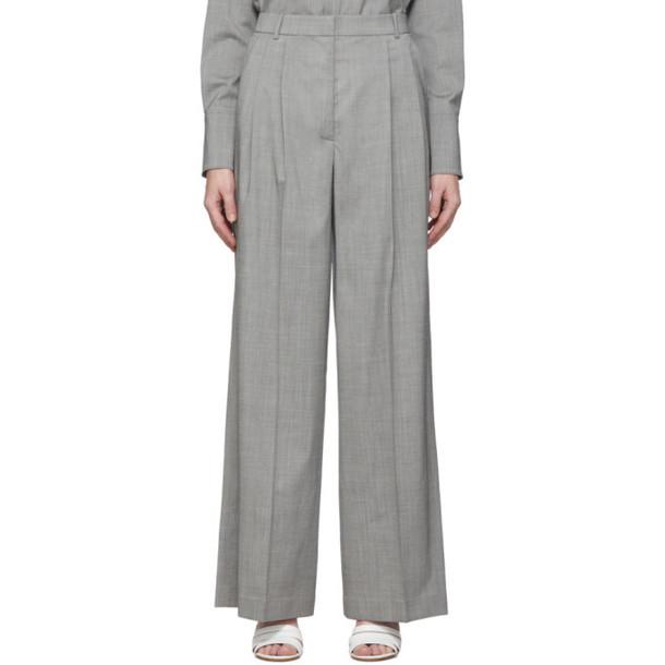 Joseph Grey Tropical Wool New Laurent Trousers