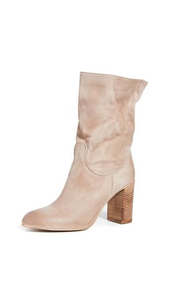 Free People Dakota Heel Boots in grey