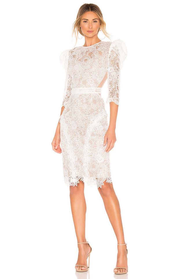 Bronx and Banco Medeleine Dress in white