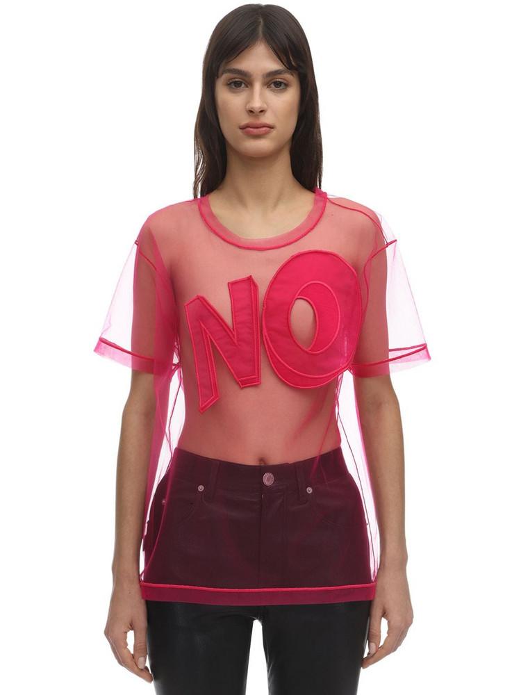 VIKTOR & ROLF No Sheer Tulle T-shirt in fuchsia