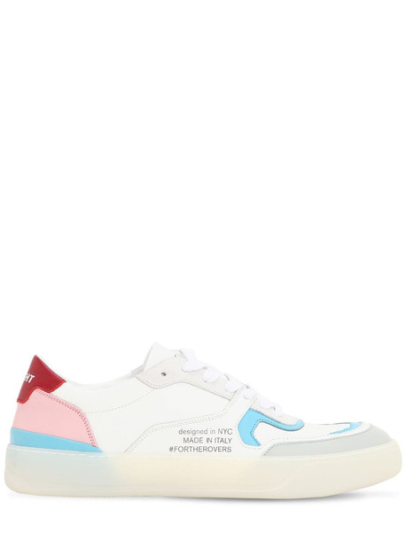 ROV Low Top Leather Sneakers in grey / pink / white