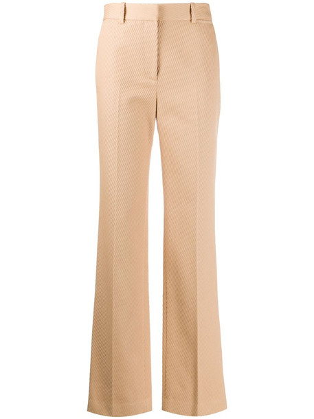 Victoria Beckham high-waisted tailored trousers in neutrals
