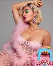bustier,pink bustier,top