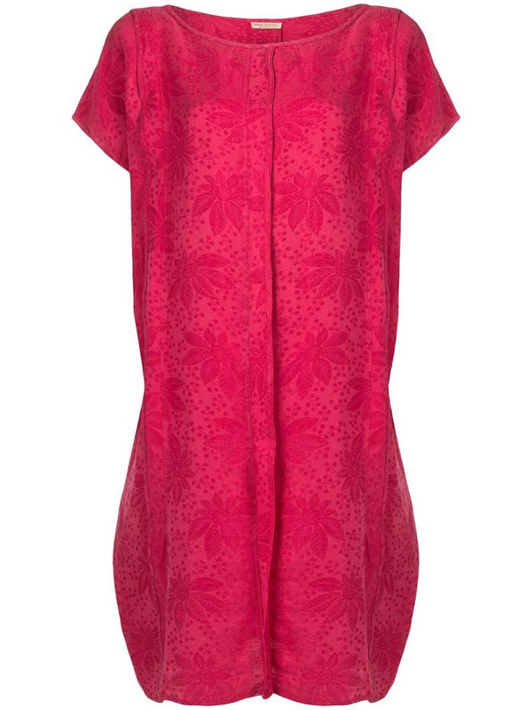 Versace Pre-Owned 1980's floral print shift dress in pink