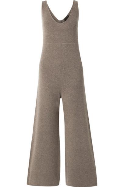 HATCH - The Nola Merino Wool And Cashmere-blend Jumpsuit - Mushroom