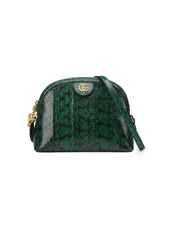 Gucci Ophidia small snakeskin shoulder bag in green
