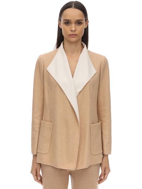 AGNONA Cashmere Knit Cardigan in beige