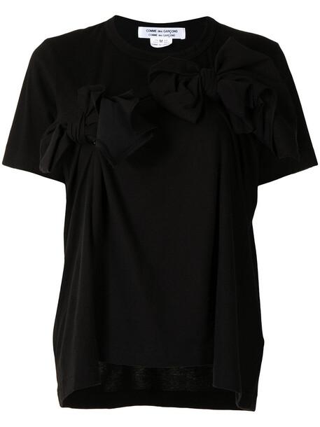 Comme Des Garçons Comme Des Garçons bow-detailed cotton T-shirt - Black