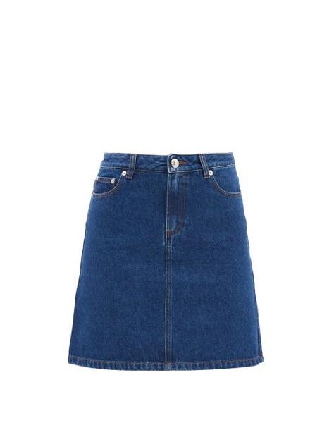 A.P.C. A.P.C. - Denim Mini Skirt - Womens - Dark Denim