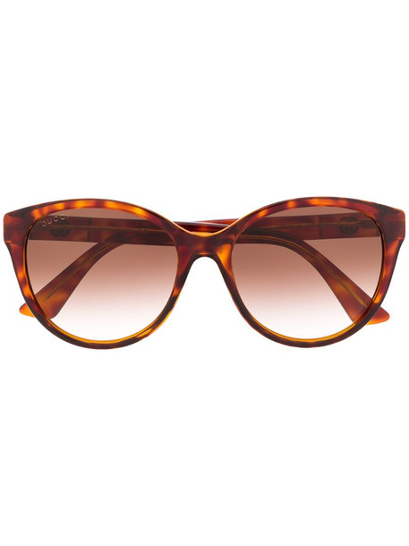 Gucci Eyewear GG0631S soft-round sunglasses in brown