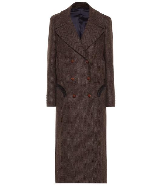 Blazé Milano Lady Anne wool coat in brown