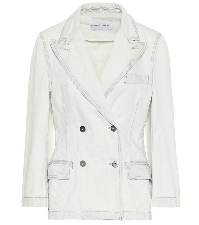 Matthew Adams Dolan Denim blazer in white