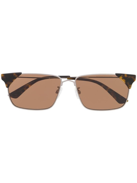 McQ Swallow rectangular sunglasses in black