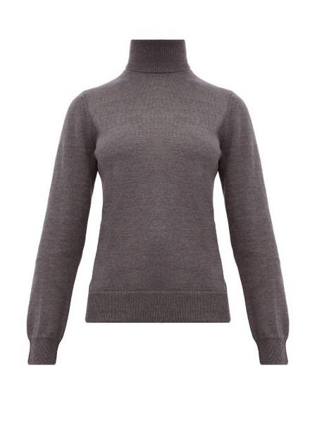 A.P.C. A.p.c. - Sandra Roll Neck Merino Wool Sweater - Womens - Grey
