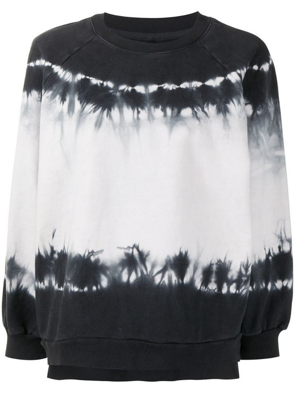Cynthia Rowley tie dye-print sweatshirt in black