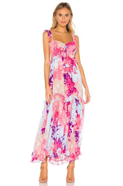 MISA Los Angeles Otavia Dress in pink