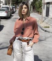 ms treinta,blogger,shirt,pants,bag,jewels