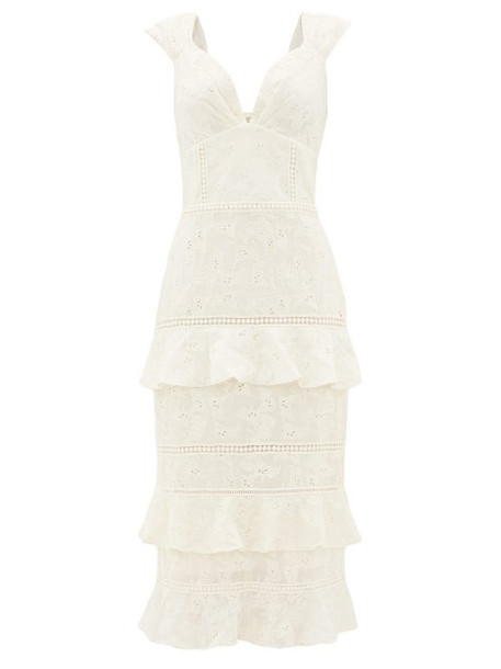 Johanna Ortiz - Traduce Me Embroidered Cotton-voile Dress - Womens - Ivory