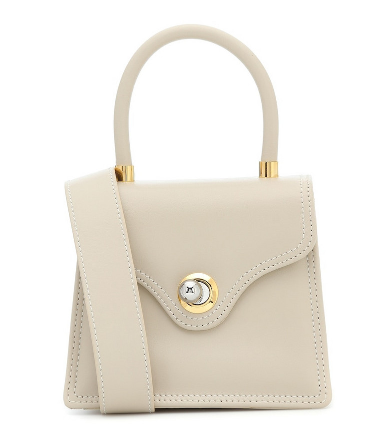 Ratio et Motus Lady 15 Small leather tote in white
