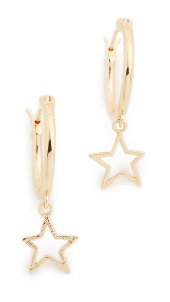 Gorjana Super Star Huggie Earrings in gold