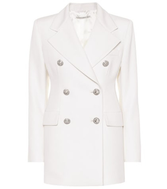 Alessandra Rich Double-breasted wool blazer in white
