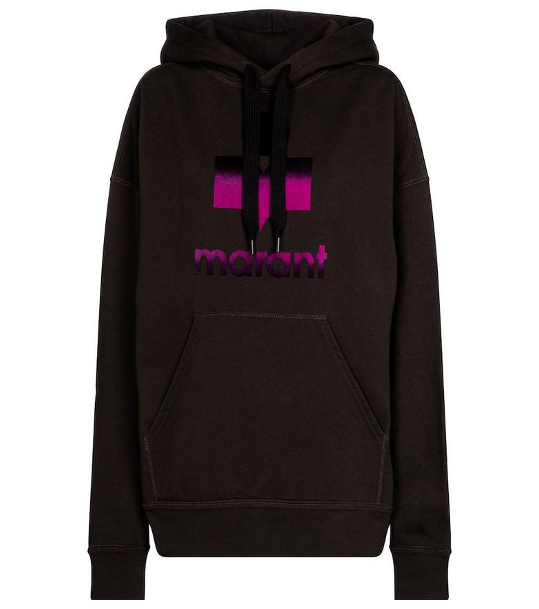 Isabel Marant, Étoile Mansel logo cotton-blend hoodie in black