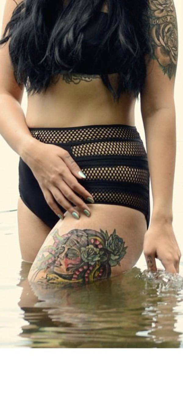 swimwear black mesh high waist swim high waisted blackbikini blackswimwear high waisted bikini