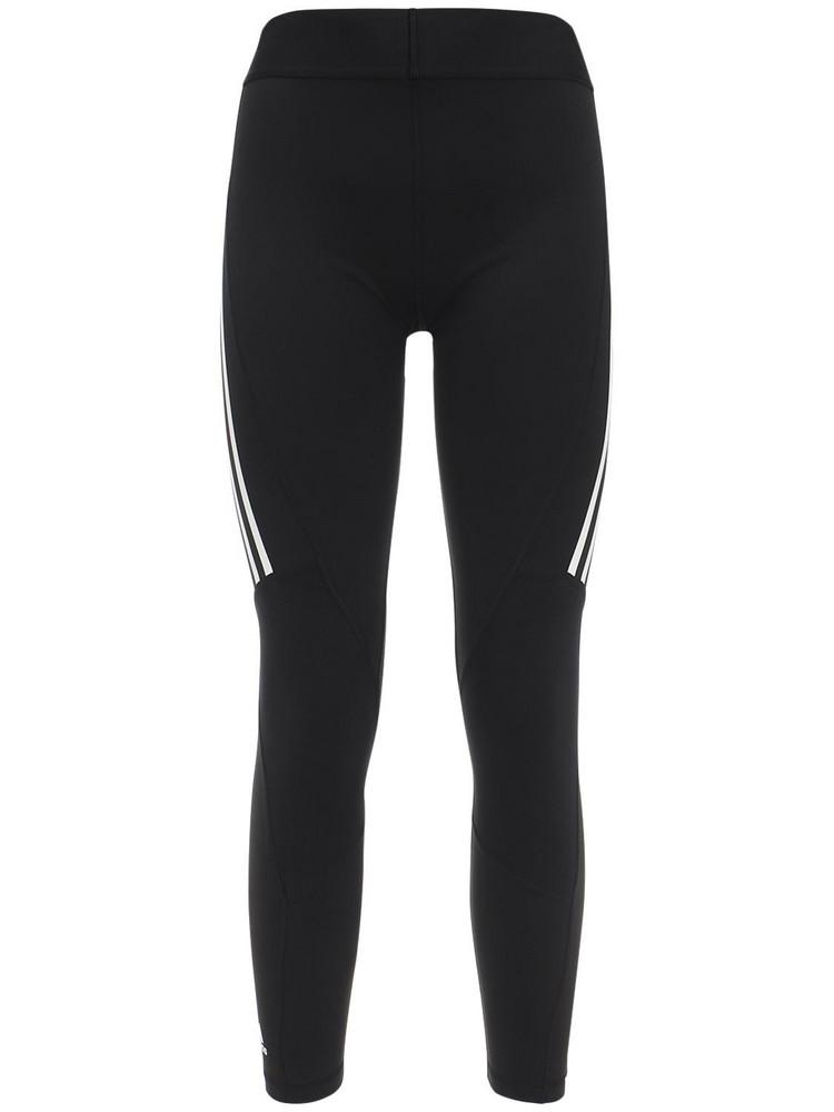 ADIDAS PERFORMANCE Alphaskin Sport 3 Stripes Leggings in black