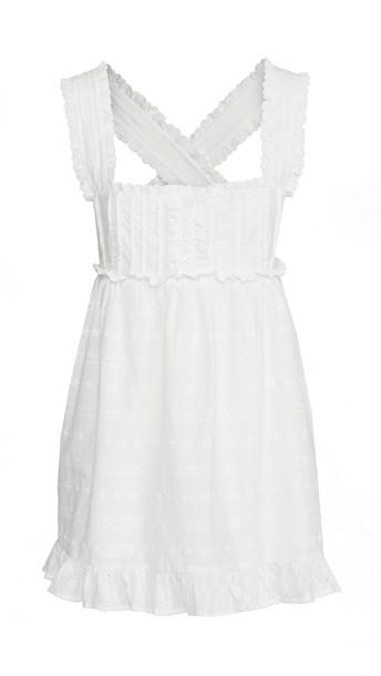 For Love & Lemons Iris Swing Dress in white