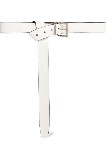 Prada - Reversible Leather Belt - White