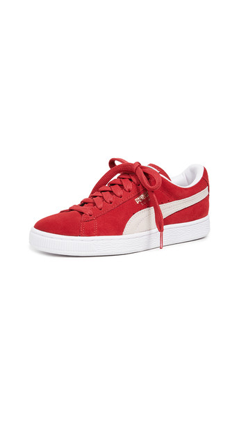 PUMA Suede Classic Sneakers in red / white