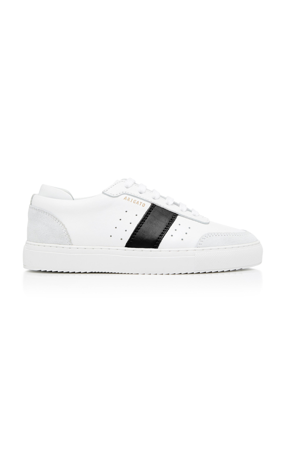 Axel Arigato Striped Leather Low-Top Sneakers in white