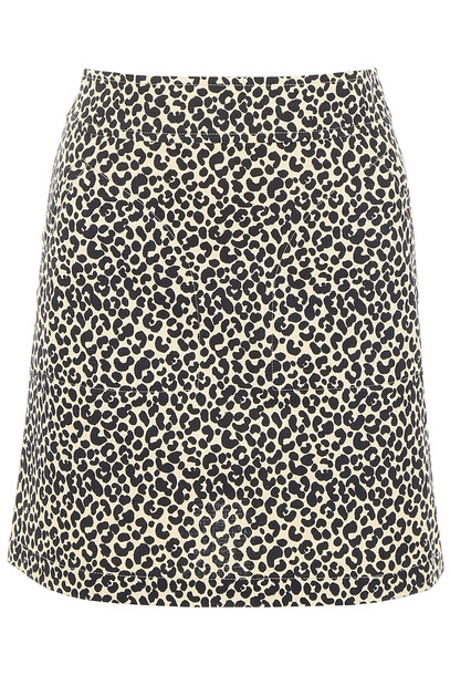 A.P.C. A.P.C. Leopard-printed Mini Skirt