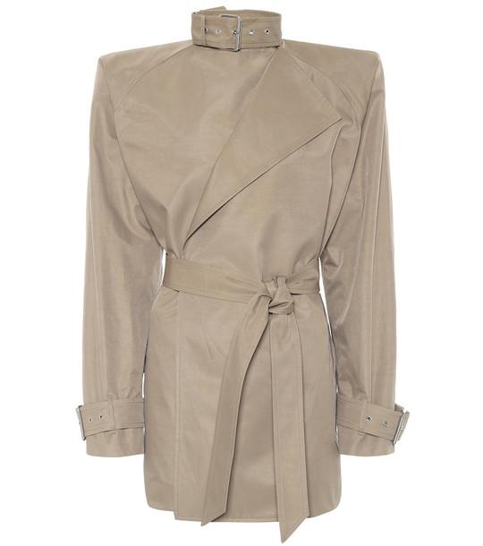 Balenciaga Cotton-blend jacket in beige
