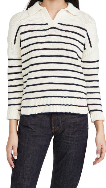 Alex Mill Jacques Pullover in Stripe in navy / ivory