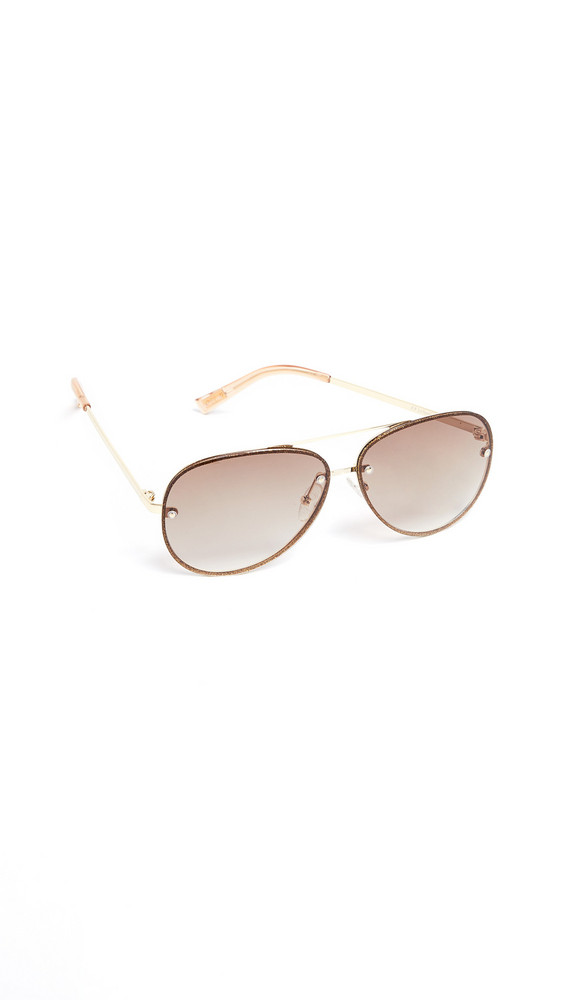 Le Specs Hyperspace Sunglasses in brown / gold