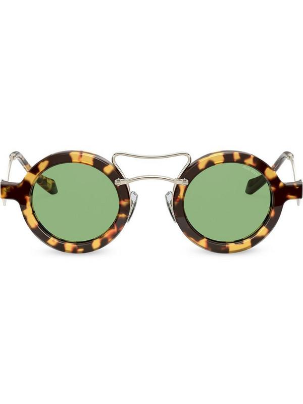 Miu Miu Eyewear tortoiseshell round sunglasses in brown