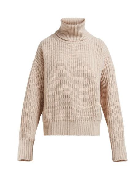 Joseph - Pearl Roll Neck Chunky Knit Sweater - Womens - Light Brown