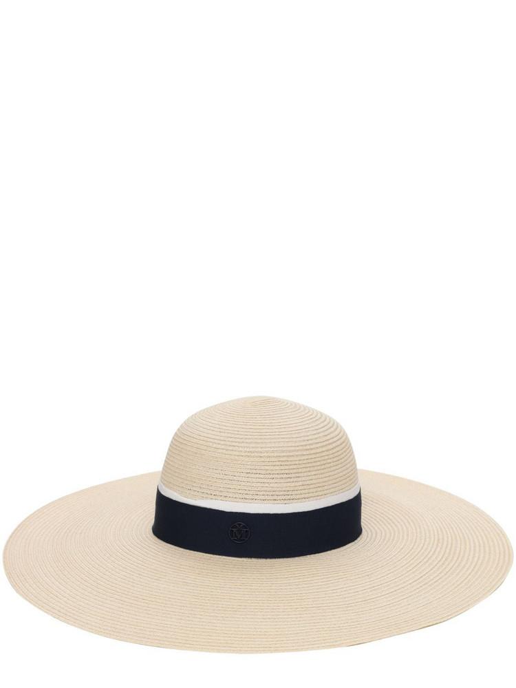 MAISON MICHEL Blanche Straw Canapa Hat in beige