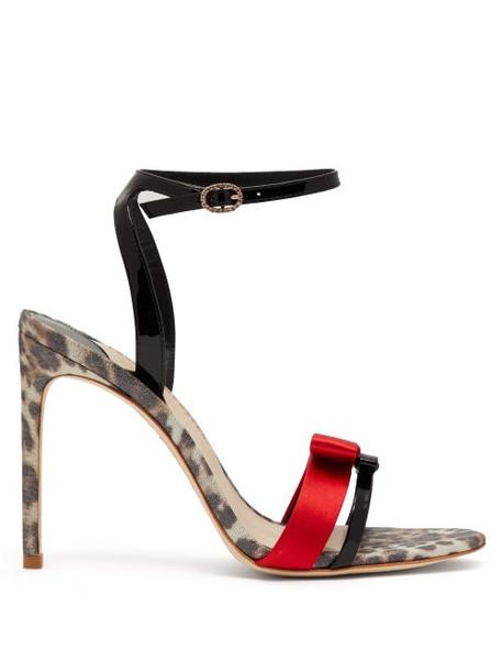 Sophia Webster - Andie Leopard Print Leather Sandals - Womens - Leopard