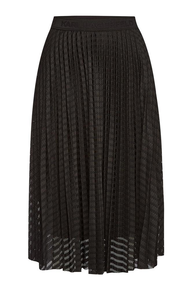 Karl Lagerfeld Pleated Skirt  in black