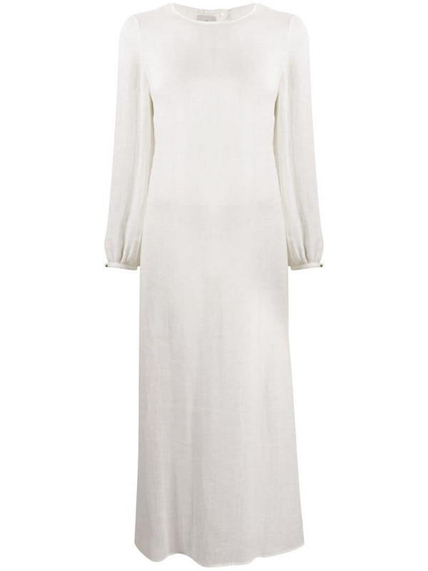 Le Kasha Aftieh open back dress in white