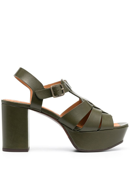 Chie Mihara Darlin cut-out platform sandals in green