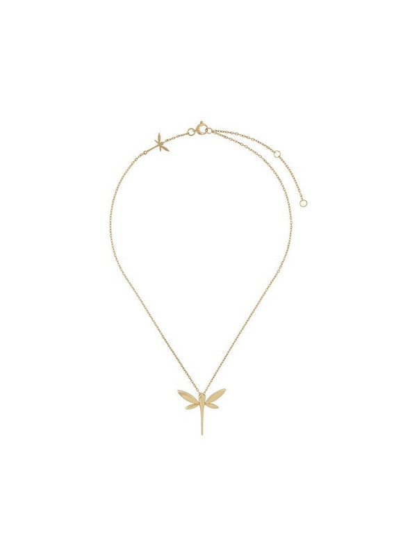 Anapsara 18kt yellow gold Dragonfly pendant necklace