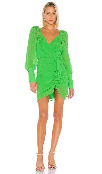LPA Braxton Embellished Dress in Green
