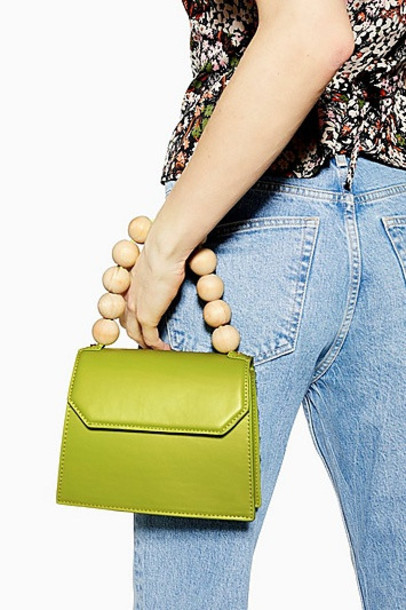 Topshop Miesha Ball Handle Grab Bag - Green