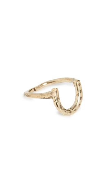 Maison Monik Horseshoe Ring in gold